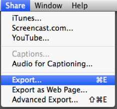 exporting camtasia mac 1