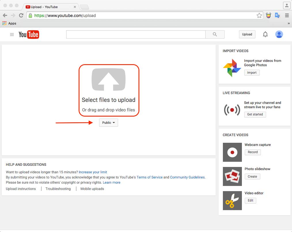 youtube upload 3