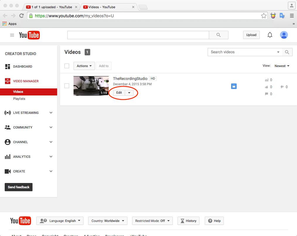 youtube upload 5