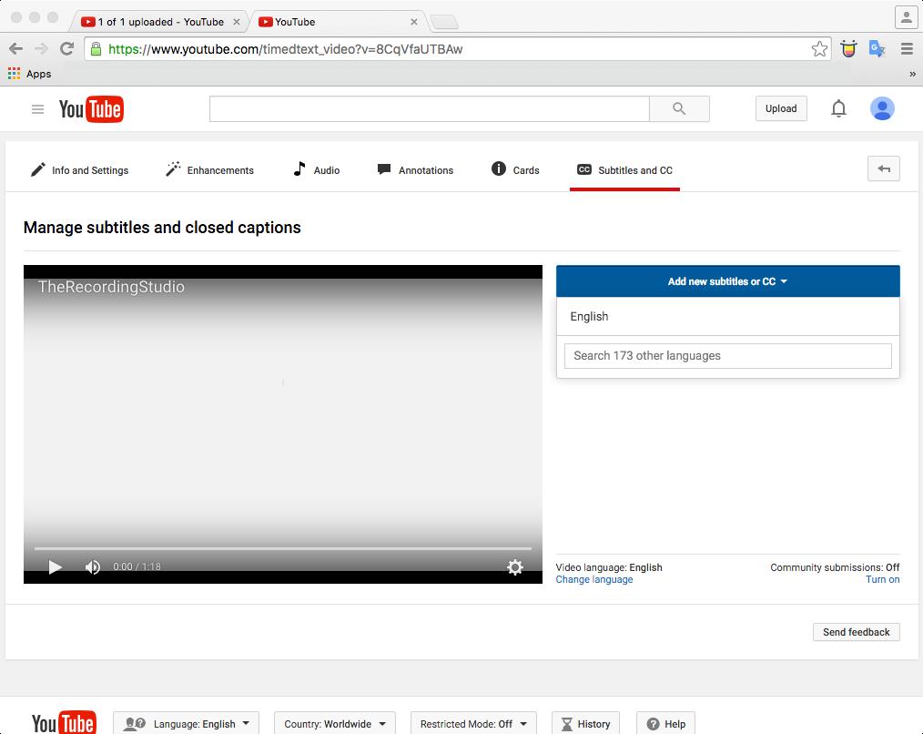 youtube upload 6